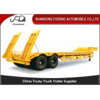 Best Double axles low bed truck semi-trailer low flatbed trailer spring suspension wholesale