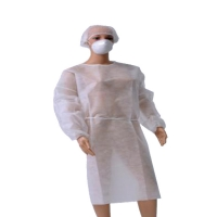 45gsm S M L Non Woven Isolation Gown Medical Disposable Products for sale