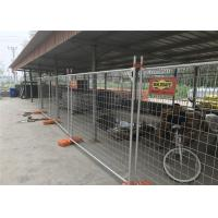 Cheap Q235 Steel Materials 10x10 Chain Link Fence Panels / Temporary Metal Fencing for sale