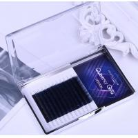 Best Coffee / Brown Individual Eyelash Extensions , Colored Lash Extensions For Beauty Salon wholesale