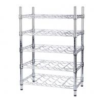 Best Wine Bottle Cradle Stainless Steel Kitchen Shelves For Bottle Collection Securely Store wholesale