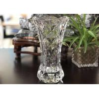 Best 25cm Height Transparent Clear Glass Vases Machine Made Desktop In Stock wholesale