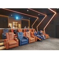 Best Customize Electric Recliner Leather Sofa Home Cinema Theater With Projector / Speaker wholesale