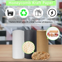 China Cushioning Sheet 80gsm Honeycomb Craft Paper Wrapping Glass Wine for sale