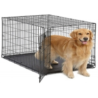 3 Sizes Stainless Steel Premium Heavy Duty Pet Dog Crate Cage Kennel For Medium Large Sized Dogs for sale
