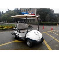 Quality 4 Seater Golf Buggy With Integrated Seat , Street Car Golf Cart For Police Patrol wholesale