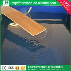 Embossed plastic type vinyl plank flooring with SGS from Hanshan