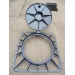 China hot sales Algeria 850x850x100mm  ductile iron manhole cover ,EN124 D400,machine mould,sewage cover,black bitumen painti, for sale