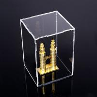 Cheap Square Counter Acrylic Display , Case Plastic Stand Clear Storage Box Jars With for sale