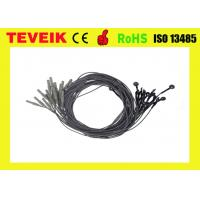 Best Black Color EEG Medical Cable DIN1.5 Socket Silver Chloride Plated TPU Material wholesale