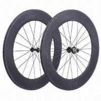 China Carbon Fiber Bicycle Wheels, 700C Road Bicycle Rims Type on sale