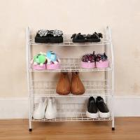 Best H270 Durable Steel Metal Mesh Shoe Rack Quick And Easy Assembly White Color wholesale