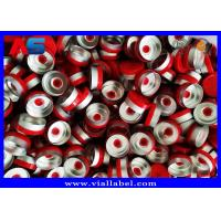 China Plastic Aluminum Flip Off Cap 20mm Red Color For Injectable 10ml Vials 22mm Width 50mm Height for sale
