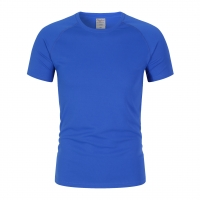 Best China Wholesale Classic Round Neck For Men Quick Dry T-Shirt Polyester Blank Blue Color Plain T Shirts wholesale