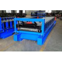 China High Efficiency Corrugated Roof Roll Forming Machine With Cr12Mov Cutter on sale