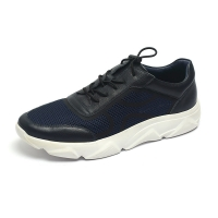 China Breathable Navy Lace Up Anti Odor Mens Soft Leather Shoes for sale