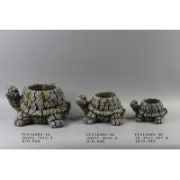 Best Turtle Shape Cement Flower Planter Garden Pot Bark Design 26 X 22.5 X 13.3 Cm wholesale