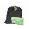 HDPE Black Drawstring Garbage Bags High Durability Environmental Friendly for sale
