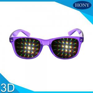 Quality PVC / PET Lenses 3D Fireworks Glasses Durable Material For TV wholesale