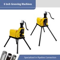Best 6 Inch Electric Pipe Machine Heavy Duty Switch / 550W Roll Grooving Machine wholesale