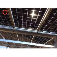 Bifacial N Type Silicon Solar Cell , 390W Commercial Solar Panels With Dual Glass
