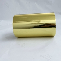 China Bright Gold Aluminum Foil Label With 100G White Glassine Paper for sale