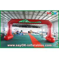 Quality Red PVC Printed Start Finish Line Arches Double Sewing Inflatable Entrance Arch wholesale