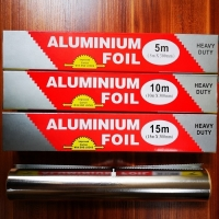 Silver BBQ Coated 8011 Heavy Duty Aluminum Foil Roll for sale