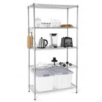 Best H173 Simple Design Metal Display Shelf Carbon Steel Beautifully Silver - Finished wholesale