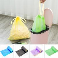 Yellow String Colored Trash Bags , Can Liners Trash Bags Custom Printing for sale