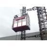 Best 2 Ton Single Cage Building Hoist Passenger Material Hoist 3.2 X 1.5 X 2.5M wholesale