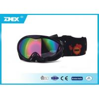 Buy cheap Kids Black Frame Pink Coating Lens boys girls junior ski goggles Glasses from wholesalers