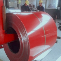 Red Construction 0.013mm Aluminium Sheet Coil for sale