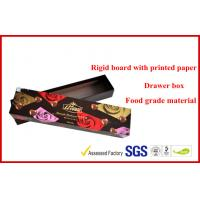 Drawer Dove Chocolate Packaging Boxes With Spot UV Logo , Rubber Finished Wine