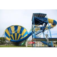 Quality Giant Outside Fiberglass Water Slides for adults , 14.6m Platform Height in Themed Water Park wholesale
