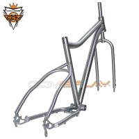 China High Hardness Bicycle Ti Frame Wear Resistant With Brushed Surface Treatment on sale