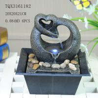 Best Free Standing Polyresin Water Fountain Heart Shaped Battery Powered For Home Decor wholesale