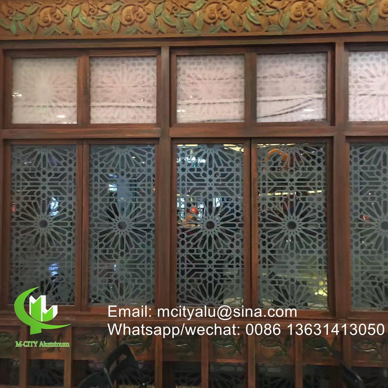 Best Aluminum perforated sheet for window screen room divider fence with 2mm thickness laser cut screen wholesale