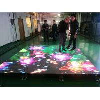 Best High Strength Dance Floor LED Screen / Interactive Led Floor Screen Anti - Scratch wholesale