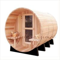 Quality Outdoor Dark Red Cedar Spas And Hot Tubs Bath Barrels , home spas and hot tubs wholesale
