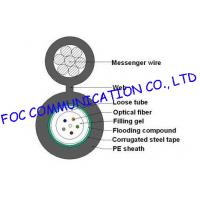 Buy cheap Loose Tube self supporting aerial cable GYXTC8S / outdoor armored fiber optic from wholesalers