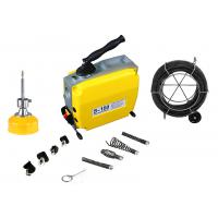 Best Sectional Electric Drain Cleaning Machine Yellow For Max 6 Inch Pipe wholesale