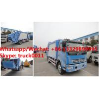 Best HOT SALE! dongfeng 4*2 LHD 7cbm garbage compactor truck, Factory sale good price dongfeng 7m3 compacted garbage truck wholesale
