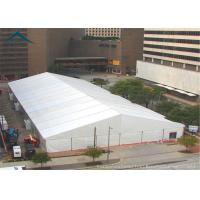 Buy cheap Large PVC Fabric Warehouse Tents A Frame Shape Fire Resistant White from wholesalers