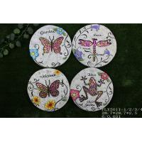 Best Ceramic Decorative Garden Stepping Stones Butterfly And Dragonfly Design wholesale
