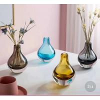 Best Brown Colored Glass Flower Vases / Bulb Type Glass Flower Vase Decoration wholesale