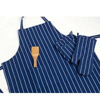 Quality 100% Cotton Commercial Stripe Chef Apron with Pocket , Adjustable Neck Strap & Waist wholesale