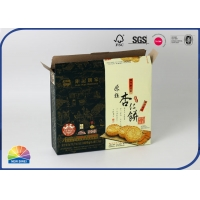 China Chocolates Biscuits Flat Folding Carton Box Offset Printing for sale