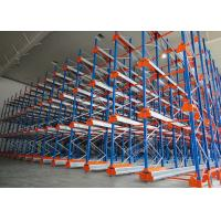 Quality Semi Automatic Heavy Duty Storage Racks 50 Pallets Deep Shuttle Storage System wholesale