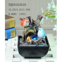 Best Bird On Bush Resin Small Outdoor Water Fountains With Circling Water Highlight wholesale